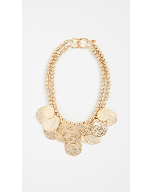 Kenneth Jay Lane | Metallic Coin Necklace | Lyst