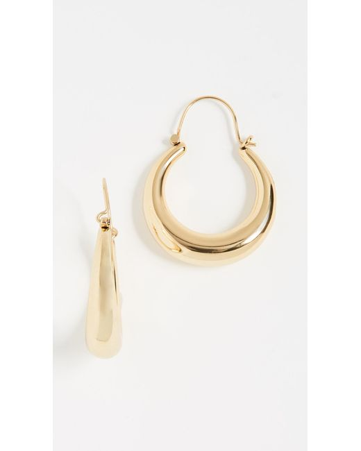 Luv Aj - Metallic Martina Tube Hoop Earrings - Lyst