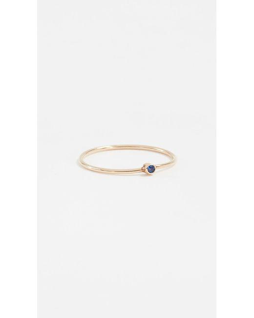Jennifer Meyer - Blue Thin Ring With Sapphire - Lyst