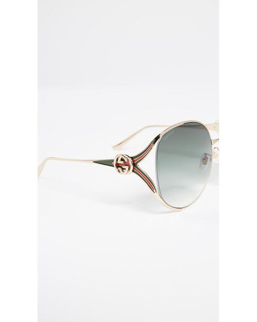 9c8edca6accd ... Gucci - Multicolor Urban Folk Oval Sunglasses - Lyst ...