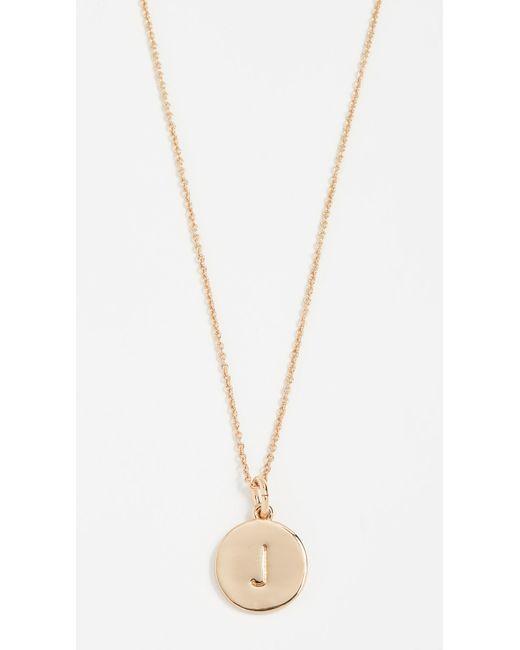 Kate Spade Metallic Letter Pendant Necklace