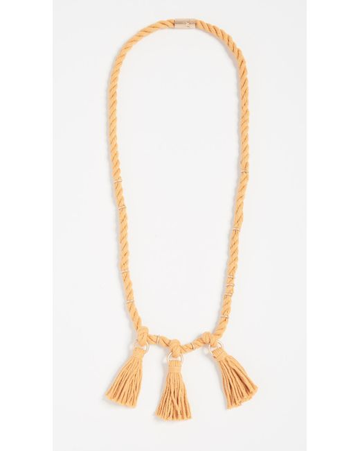 Madewell - Metallic Rope & Tassel Necklace - Lyst