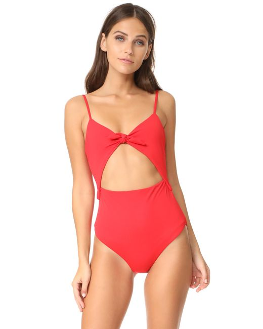 Mara Hoffman | Red Kia One Piece | Lyst