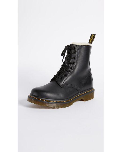 Dr. Martens - Black Serena 8 Eye Boots - Lyst