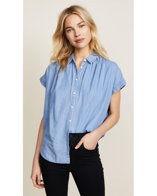 Madewell | Blue New Chambray Central Shirt | Lyst