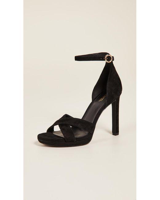 4ca74aff4f07 MICHAEL Michael Kors - Black Alexia Ankle Strap Sandals - Lyst ...