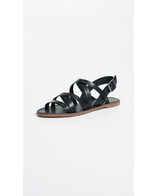 Madewell - Black Outstock Multi Strap Sandals - Lyst