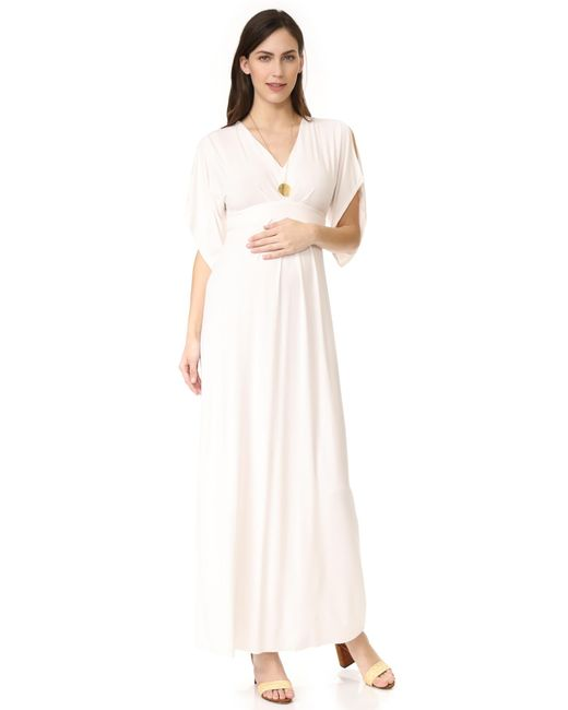 Ingrid & Isabel - White Kimono Maxi Dress - Lyst