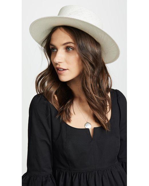 Janessa Leone - White Camie Hat - Lyst