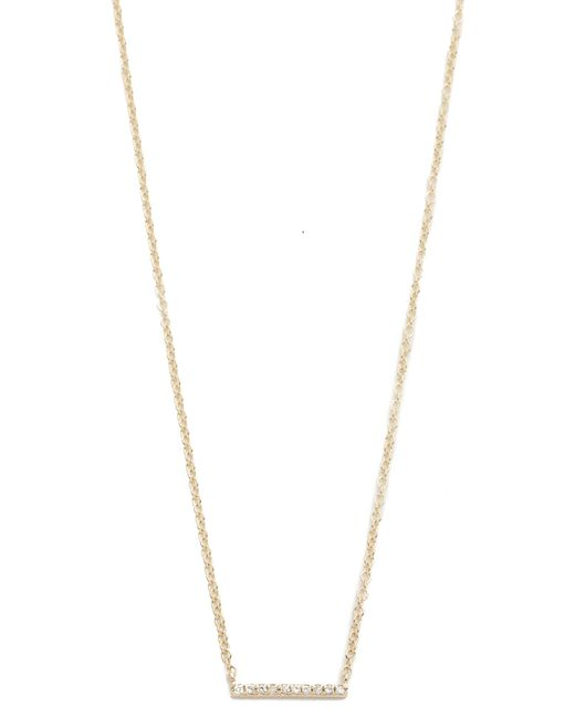 EF Collection - Metallic Diamond Mini Bar Necklace - Lyst