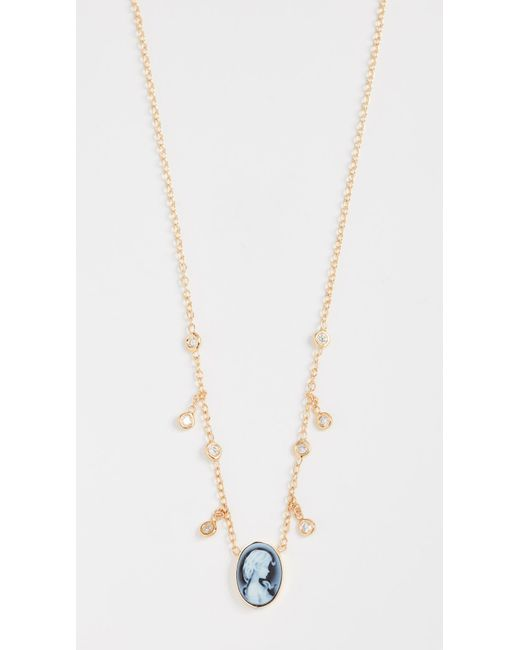Jacquie Aiche | Metallic Cameo Necklace | Lyst