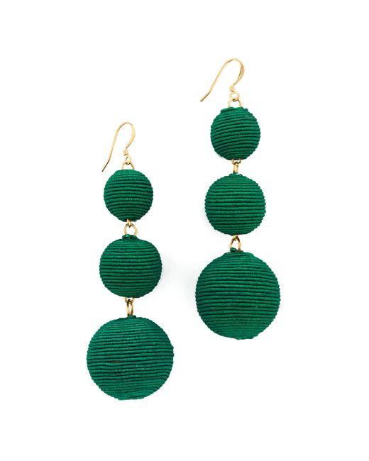 Kenneth Jay Lane | Green Triple Tier Drop Earrings | Lyst