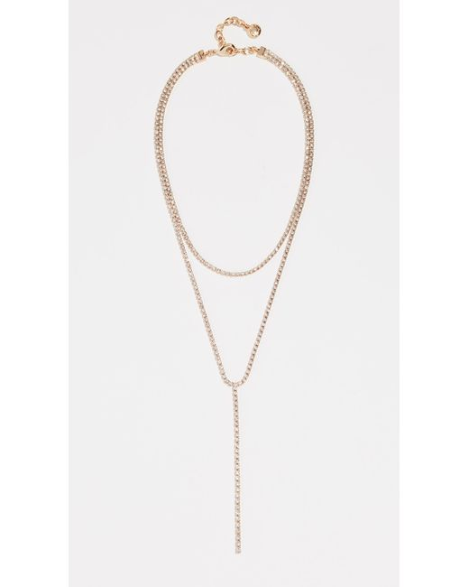 BaubleBar - Metallic Cup Chain Layered Lariat Necklace - Lyst