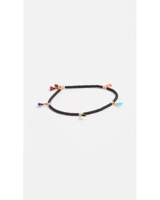 Shashi - Black Lilu Seed Bracelet - Lyst