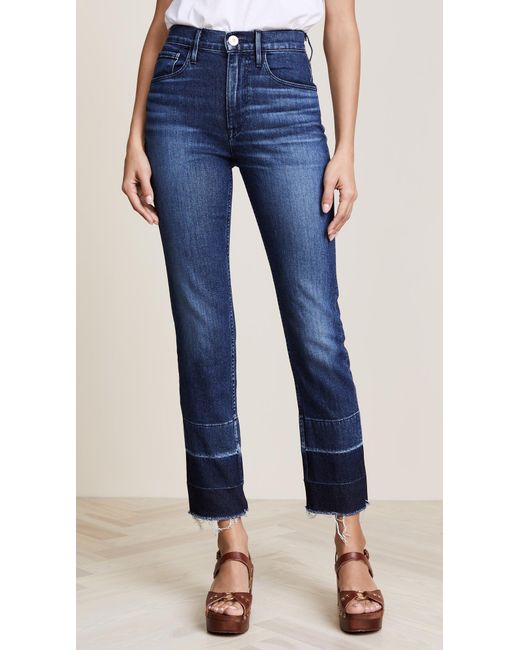 3x1 | Blue W4 Shelter Straight Crop Jeans | Lyst