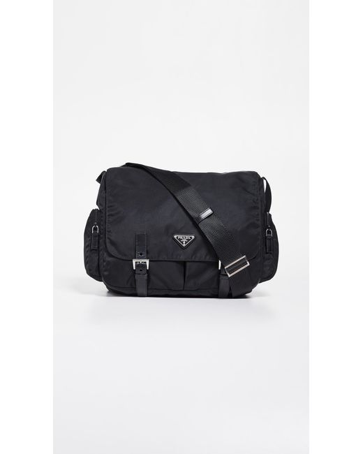 23957e57bd09 What Goes Around Comes Around - Black Prada Nylon Messenger Bag - Lyst ...
