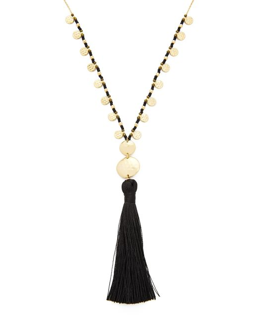 Gorjana | Metallic Leucadia Beaded Tassel Necklace | Lyst