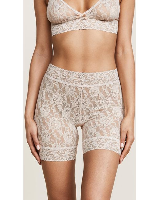Hanky Panky - White Signature Lace Bike Shorts - Lyst