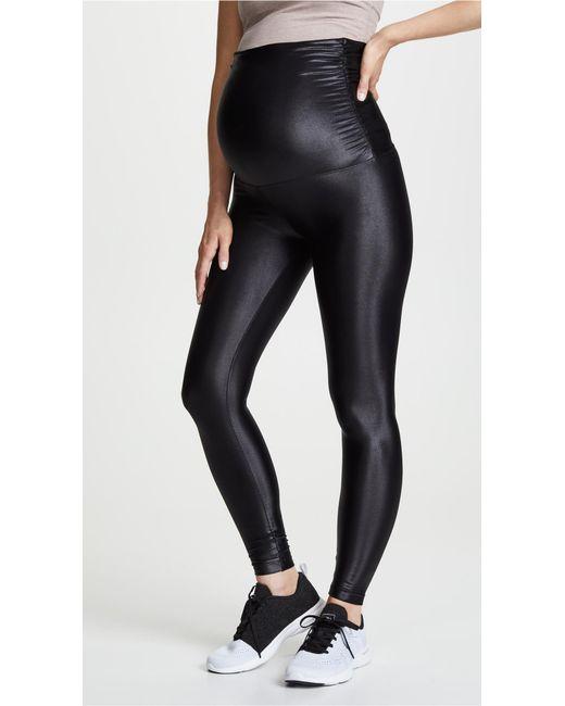 Koral - Black Lustrous Maternity Leggings - Lyst