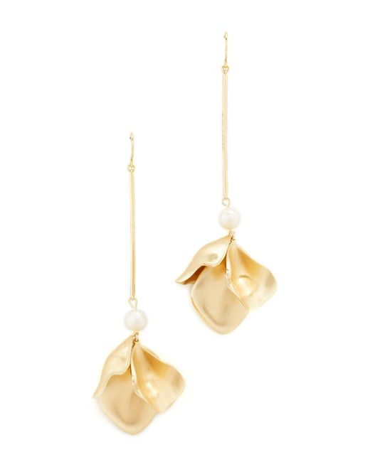 Elizabeth and James   Metallic Posy Earrings   Lyst