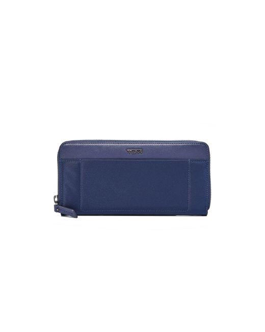 Tumi   Blue Zip Around Continental Wallet   Lyst