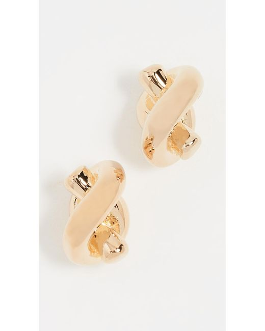 Kate Spade - Metallic Sailor's Knot Stud Earrings - Lyst