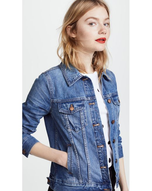 Madewell - Brown Denim Jacket - Lyst