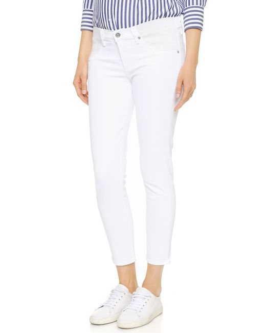 Citizens of Humanity | White Avedon Below The Belly Ultra Ankle Skinny Jeans | Lyst