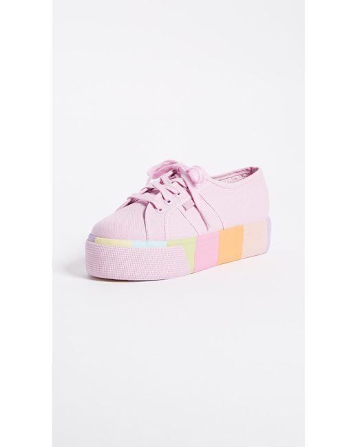 Superga   Pink 2790 Multi Platform Sneakers   Lyst