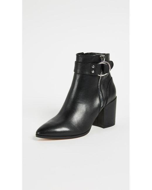 Steven by Steve Madden - Black Johanna Block Heel Ankle Boots - Lyst