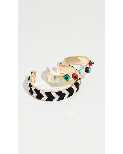 BaubleBar - Metallic Etana Bracelet Set - Lyst