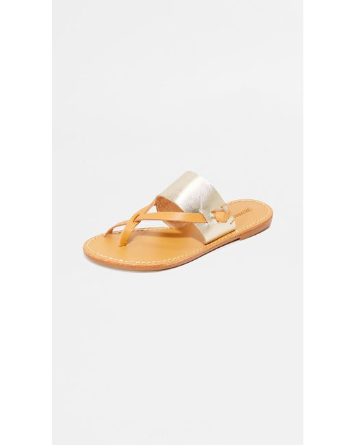 Soludos Metallic Slotted Thong Sandals
