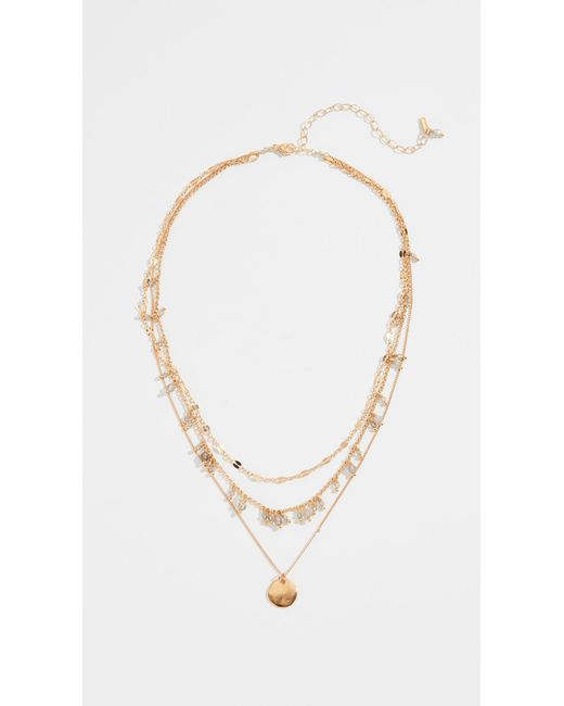 Chan Luu - Metallic Layered Short Necklace - Lyst
