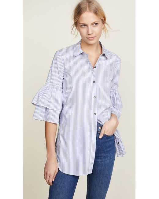 Ella Moss - Blue Carissa Buttondown - Lyst