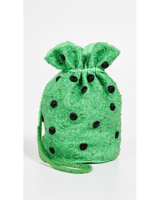 Ganni - Green Edison Bucket Bag - Lyst