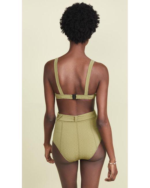 cd6eaa56cb8d6 ... Lisa Marie Fernandez - Green Magdalena Belted High Waisted Bikini -  Lyst ...