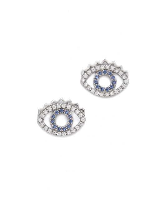 KENZO | Blue Mini Eye Earrings | Lyst