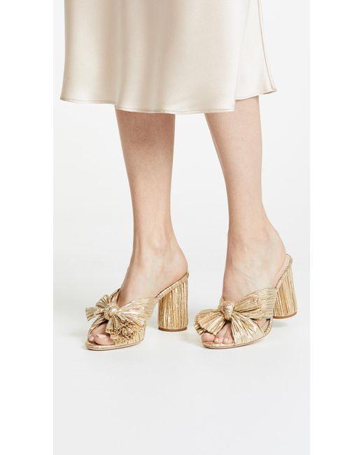 Loeffler Randall Penny Knotted Lamé Sandals 100% authentic online cZu6mY