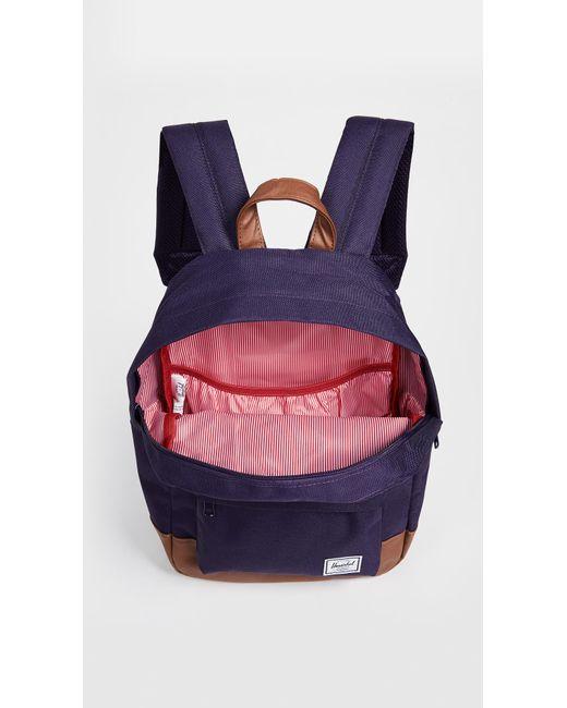 17616b0eda6 Purple Heritage Mid Volume Backpack - Lyst Herschel Supply Co. - Purple  Heritage Mid Volume Backpack - Lyst ...