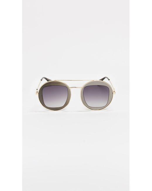 51283a42f31 Gucci - Multicolor Urban Round Sunglasses - Lyst ...