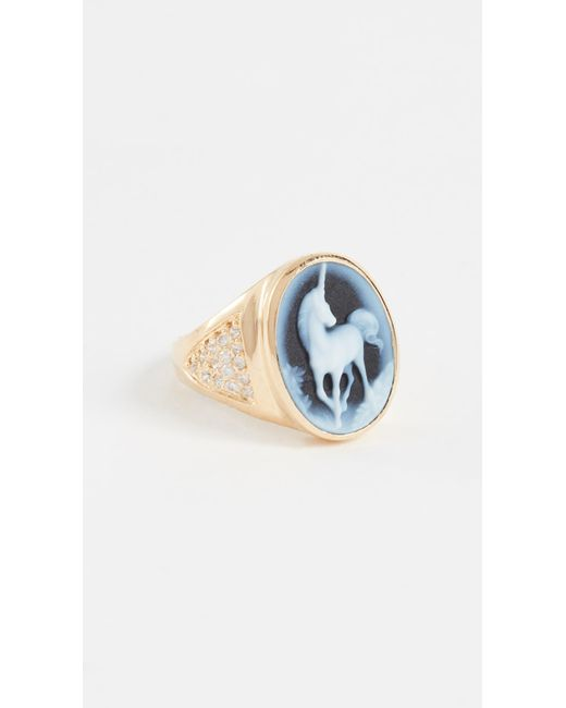 Jacquie Aiche - Metallic Ja Large Unicorn Ring - Lyst