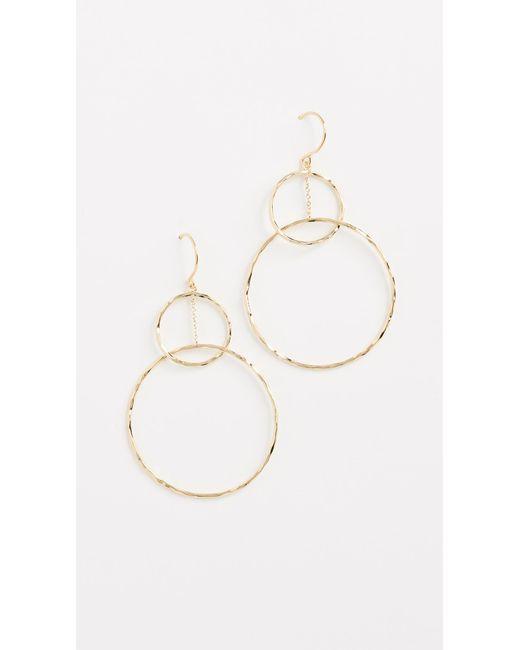 Gorjana   Metallic Interlocking Circle Drop Earrings   Lyst