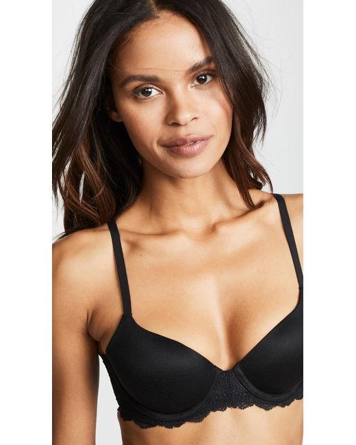 1059b6a6e0427 ... Spanx - Black Undie-tectable Lightly Lined Demi Bra - Lyst ...