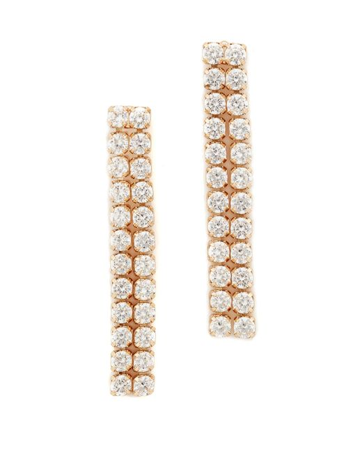 Kenneth Jay Lane | Multicolor Double Row Dangle Earrings | Lyst