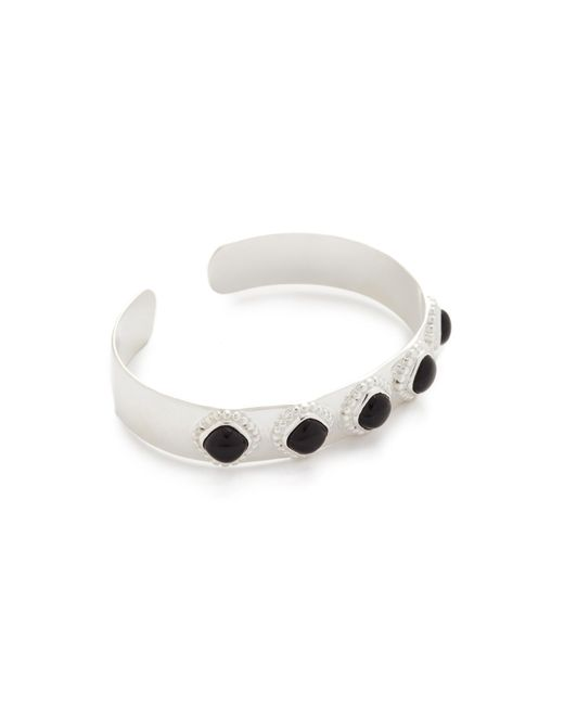 Aaryah | Metallic Aaliya Five Stone Cuff Bracelet | Lyst