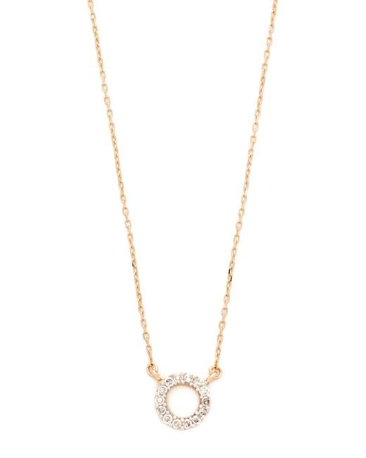 Adina Reyter | Metallic Super Tiny Pave Circle Necklace | Lyst