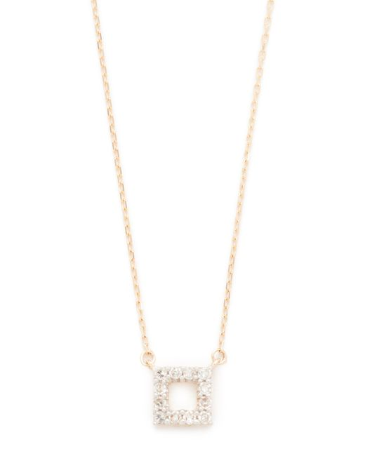 Adina Reyter | Metallic Super Tiny Pave Square Necklace | Lyst