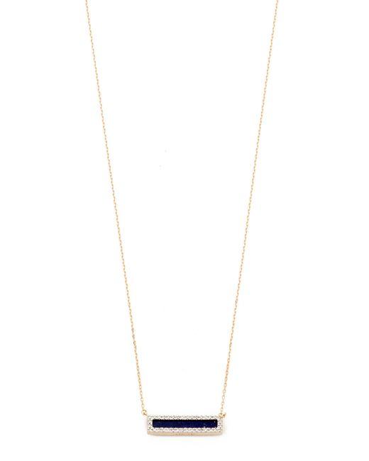 Adina Reyter | Metallic Lapis + Diamond Bar Necklace | Lyst