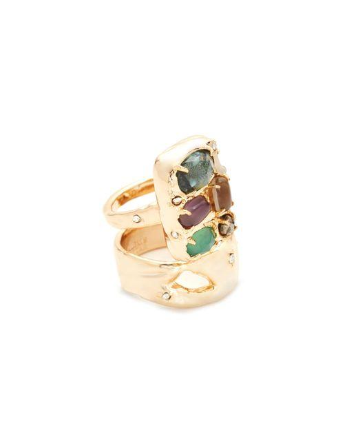 Alexis Bittar | Metallic Assorted Stone Ring | Lyst
