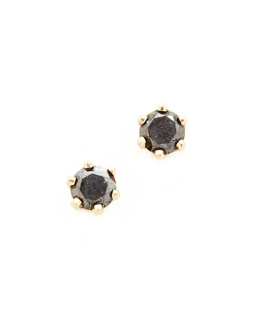 Blanca Monros Gomez | Little Black Diamond Stud Earrings | Lyst
